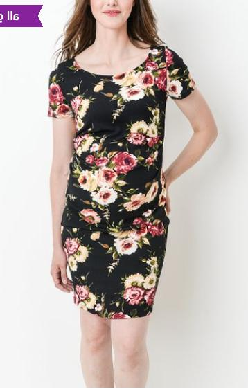 women s velvet black floral scoop neck