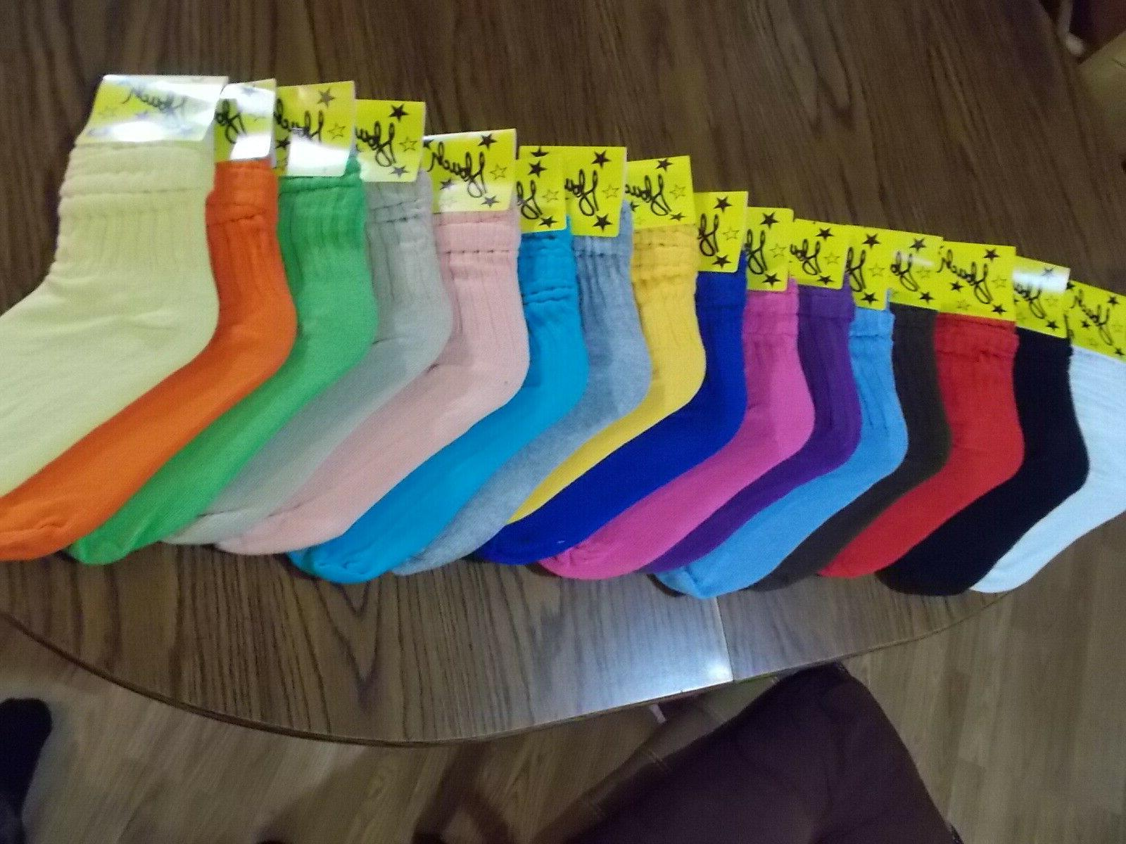 WOMEN SOCKS 9-11 ATHLETIC 19 COLORS NWTS SHIPPING