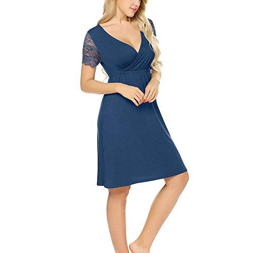 Womens Classic Dress Long Pregnancy Loose Clearance