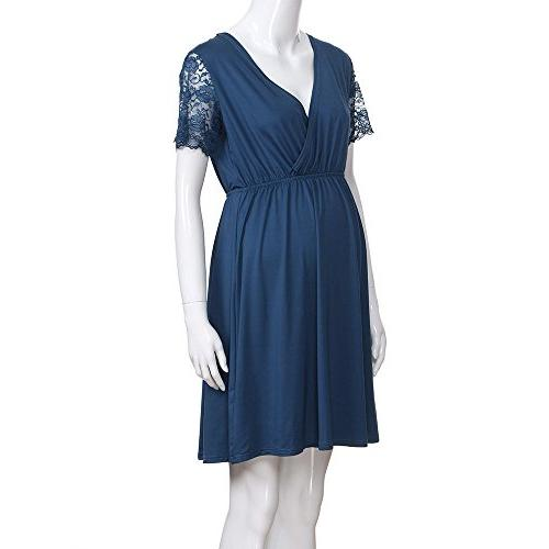 Womens Classic Dress Mama Pregnancy Loose Clearance