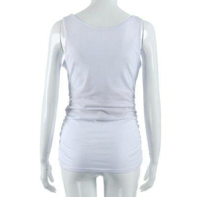 Womens Fashion Side Ruched Clothes Tank Tops