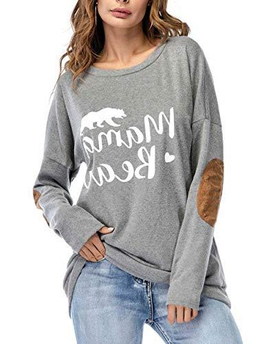 womens mama bear shirt long sleeve crewneck