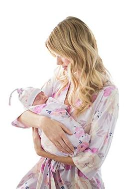 matching delivery robe swaddle blanket