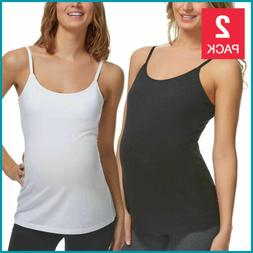 maternity camisole cami 2 pack tank top