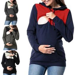 Maternity Clothes Breastfeeding Tops Hoodie Pregnancy Nursin