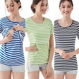 Maternity Clothes For Pregnant Women Nursing Tops Breastfeed