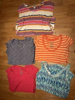Maternity Clothes Lot, 5 Maternity Tees Shirts Tops Size Ext