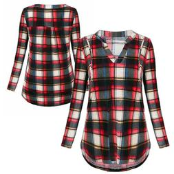 Maternity Clothes Plaids Breastfeeding Shirts Nursing Tops F
