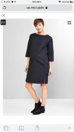 GAP Maternity Dress Quilted Navy Cotton Women's Large New!
