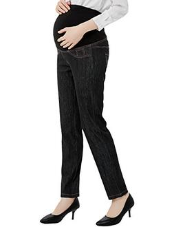 Bhome Maternity Jeans Pants Over The Belly Leggings Stretchy