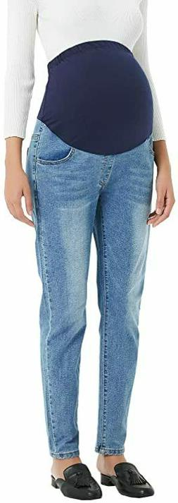 Maternity Jeans Stretch Skinny Denim Jean Pants Over Bump