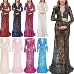 maternity maxi gown pregnant women lace dress