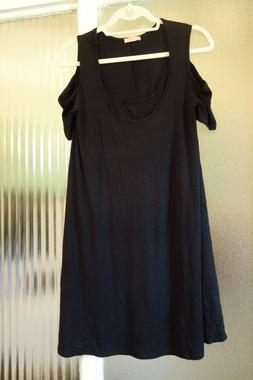 Maternity Nursing Little Black Dress Cold Shoulder Hello Miz