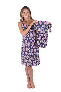 maternity nursing nightgown matching layette