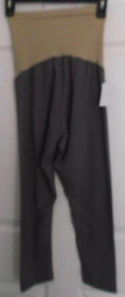 MOTHERHOOD MATERNITY OH BABY GRAY KNIT CAPRIS CROPPED PANTS