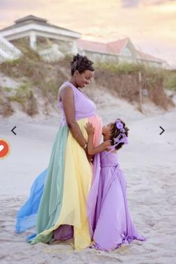 Sew Trendy Accessories maternity Pregnancy Photoshoot Gown M