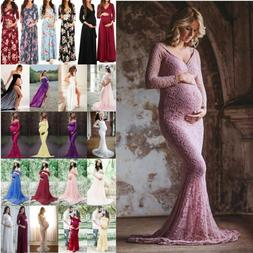maternity pregnant women long maxi party gown