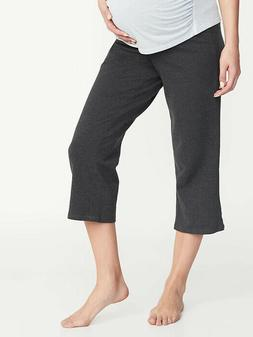 Old Navy Maternity Rollover Waist Wide Leg Yoga Crops Charco