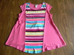 My Lil Bump Maternity Small Pink S/S Shirt Top Yellow Black