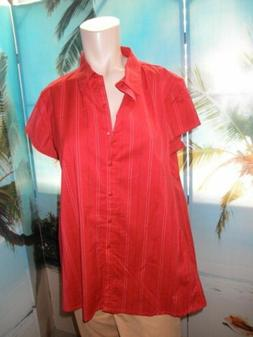 MATERNITY ANNOUNCEMENTS STRETCH TOP SIZE SMALL  NEW RED FREE