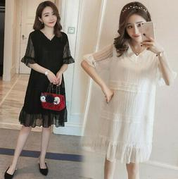 Maternity Summer Clothes Fashion Casual Loose Short Sleeve L