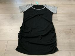 BBHoping Maternity Tops Short Sleeve T-Shirt Ruched Side Pre