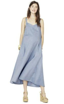 Hatch Maternity Women's THE JULIENNE DRESS Chambray Size 1