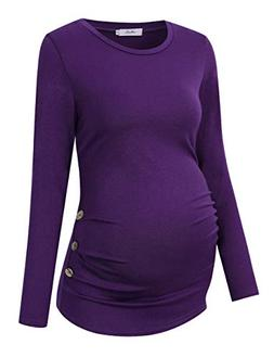 missqee maternity shirt side button and ruched