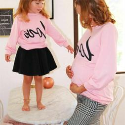 Mommy Daughter Clothes Spring Fall  Sweatshirt O-neck Pullov