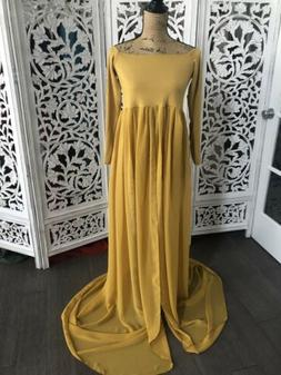 Mustard Roxy Maternity Dress Gown By Sew Trendy Accessories