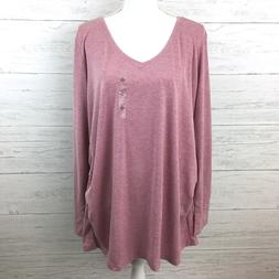 NEW A.N.A. Women's Pink Maternity Top Long Sleeve Tee Pink M