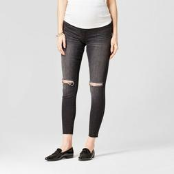 NEW! Isabel Maternity Crossover Panel Distressed Jegging Jea