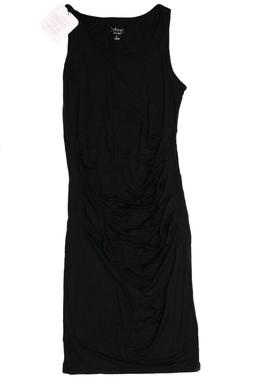 New Women's Isabel Maternity Clothes Black Solid Tank Dress