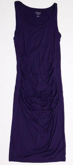 New Women's Isabel Maternity Clothes Purple Solid Tank Dress