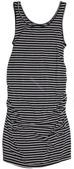 New Women's Maternity Clothes Tank Dress Black Grey Ruching