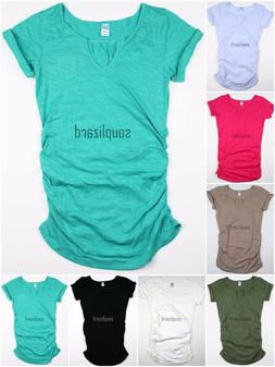 New OLD NAVY Womens Maternity Solid Shirt Tee Top T-Shirt NW