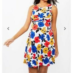 NWT Motherhood Maternity Floral Belted Dress Size M Sleevele