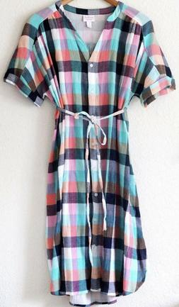NWT Ingrid & Isabel Women's Maternity Dolman Shirt Dress - P