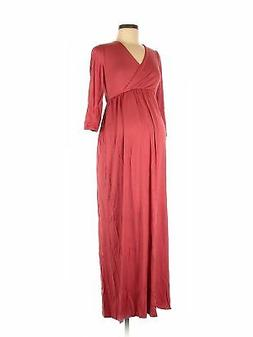 NWT Mother Bee maternity Women Red Casual Dress M Maternity