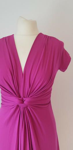 SERAPHINE Pink Maternity Dress Front Knot 6 Petite Length St