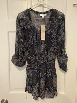 Motherhood Maternity plus size 1x blue floral NWT brand new