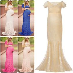 Pregnant Women Chic Lace Maxi Dress Maternity Photography Pr