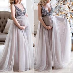 Pregnant Women Lace Maternity Photography Long Pregnancy Dre