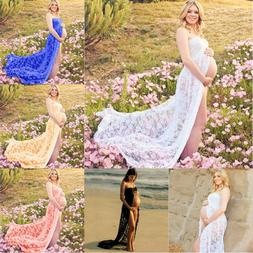 Pregnant Women Lace Maxi Dress Maternity Gown Photography Pr