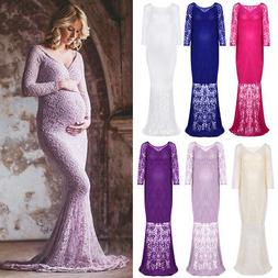 Pregnant Women Lace Photography Dress Off Shoulder Maternity