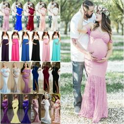 Summer Women's Maternity Maxi Long Dress Party Casual Pregna