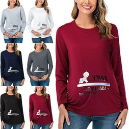 Pregnant Womens Maternity T-Shirt Breastfeeding Blouse Funny