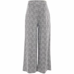 TOPSHOP PRINCE OF WALES CHECKED CROPPED PALAZZO CULOTTE MATE