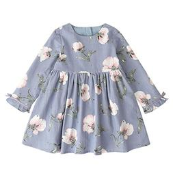 Girl Princess Dress, Hometom Girl Clothes Long Sleeve Floral