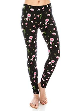 ALWAYS Women Printed Soft Leggings - Buttery Stretch Floral